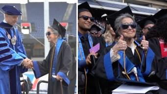 A los 93 años bisabuela se gradúa de la universidad