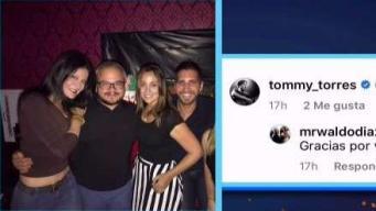 Tommy y Karla comparten en fiesta en Miami