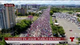 Un mar de gente pide la renuncia de Ricardo Rosselló