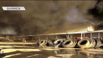 Incendio devora planta de reciclaje en Guánica