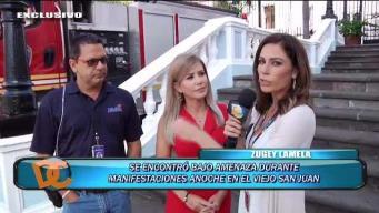 Zugey Lamela y Rubén Torres cuentan como fue trabajar durante la protesta
