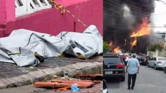 Brasil: muertos y heridos tras caer avión en zona poblada