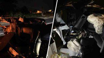 Aparatoso accidente de tránsito en Dorado