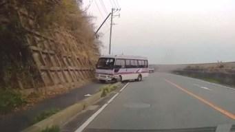Impactante video: autobús se estrella contra paredón