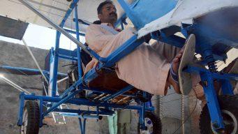 Vendedor de palomitas de maíz construye avión casero
