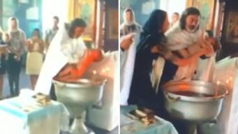Indignación por violento bautizo captado en video