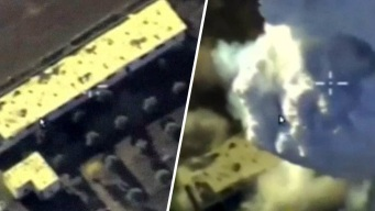 Video: barren a bombazos escondites de rebeldes sirios