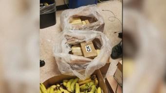 Encuentran $1 millón en cocaína en cajas de bananas