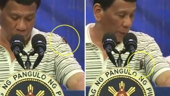 En video: cucaracha interrumpe un discurso presidencial
