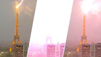 Impresionante video: rayo impacta la Torre Eiffel