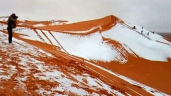 Increíble: nieva en el desierto más caliente del mundo