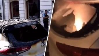 Policía se responsabiliza por carro quemado en VSJ