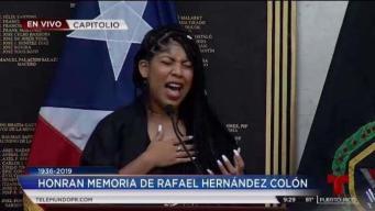 Jeidimar canta en homenaje a Rafael Hernández Colón