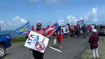 Residentes de Vieques y Culebra se manifiestan contra la ATM
