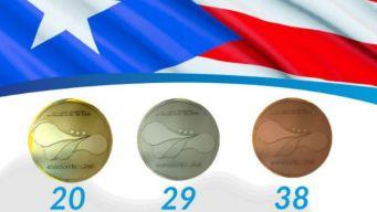 Puerto Rico supera su total de medallas y preseas de oro