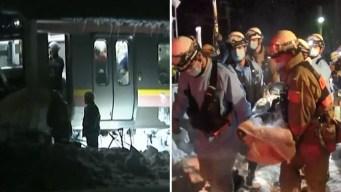 Cientos quedan atrapados en un tren por fuerte nevada