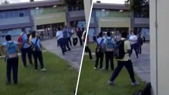 Investigan pelea entre adulto y estudiante en escuela