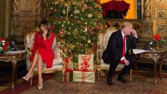 Los Trump hablan de Santa con niños de todo el país