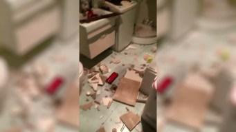 Captan en video cómo fuerte sismo remece sus hogares