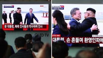 Kim Jong-un le da la bienvenida a su homólogo sureño