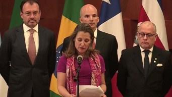 Seis países hacen petición para investigar a Venezuela