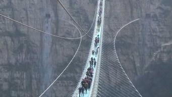 Impresionante: puente de cristal más largo del mundo