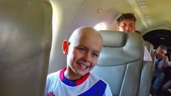 Emotivo vuelo de ensueño para pacientes de cáncer
