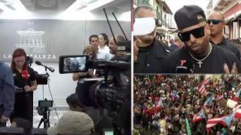 Nicky Jam se une a manifestantes frente a Fortaleza