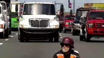 Transportistas movilizaron más de 300 camiones en el Paro Nacional