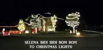 Viral: luces navideñas al ritmo de la recordada Selena