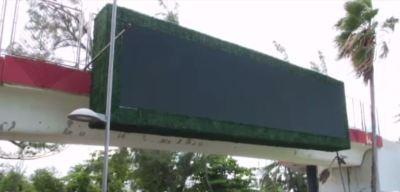 Peligroso ''billboard'' en el Escambrón