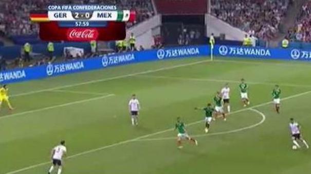 Alemania vs México: jugada del día