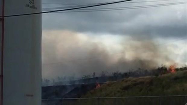 Fuego en Central Aguirre  provoca apagón general
