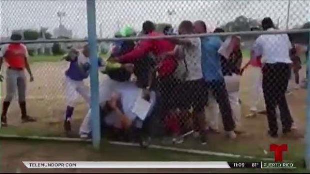 Agreden a árbitro en torneo de pelota en San Juan