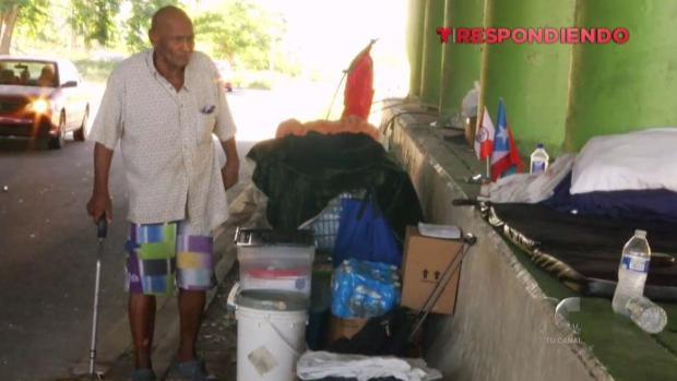 [TLMD - PR] Anciano vivendo debajo de un puente necesita ayuda inmediata