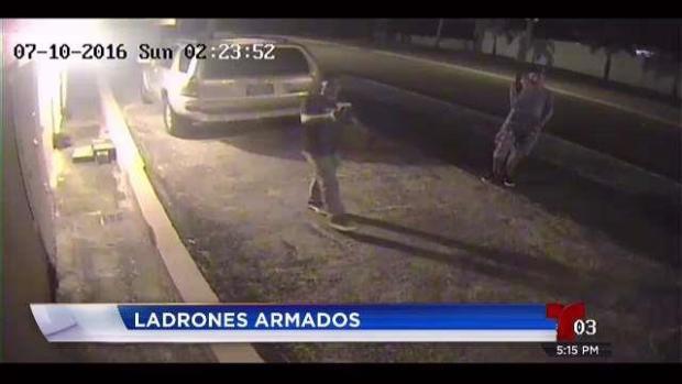 [TLMD - PR] Captados en cámara ladrones armados