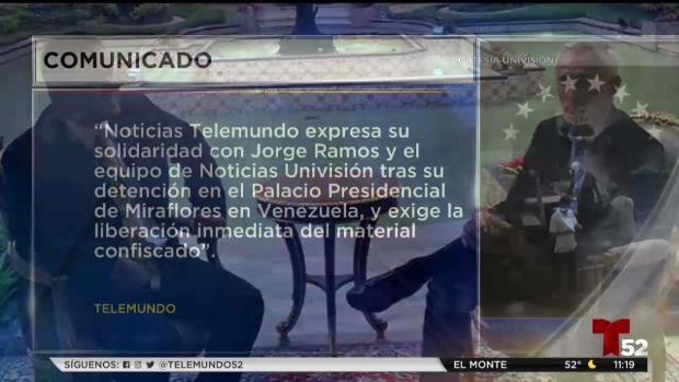 [TLMD - LV] Comunicado de Telemundo sobre periodistas retenidos en Venezuela