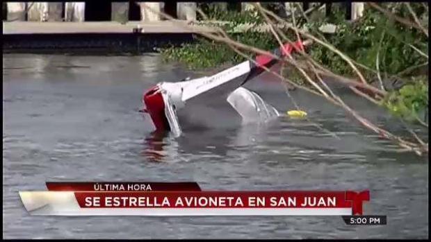 Se estrella avioneta en Bahía de San Juan