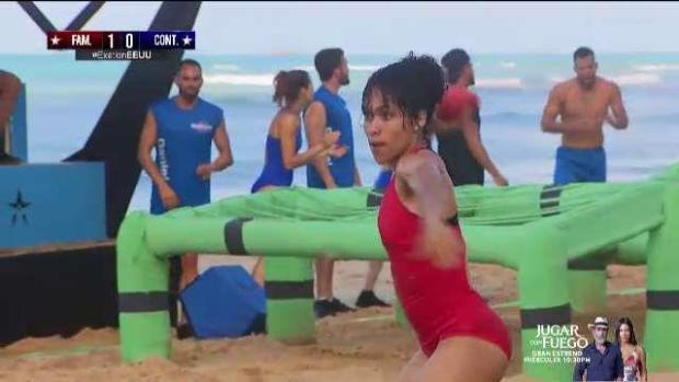 Dayleen Santana logra primera victoria en Exatlón