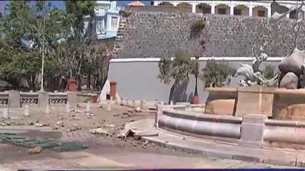 Marejada provocó destrozos en el Paseo de la Princesa