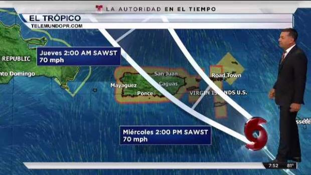 [TLMD - PR] Más cerca de Puerto Rico la tormenta Dorian