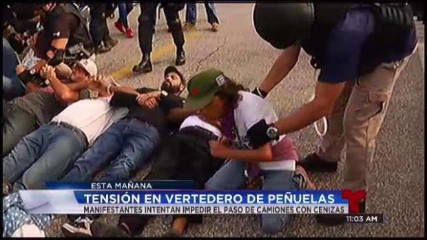 [TLMD - PR] En pie de lucha los manifestantes en Peñuelas.