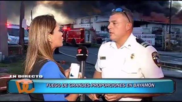 [TLMD - PR] Explosión provocó incendio en Bayamón