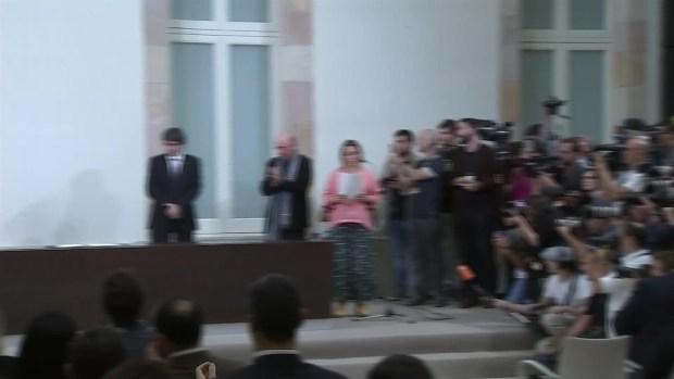 Cataluna firma declaracion de independencia