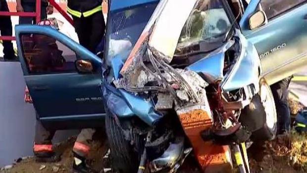 [TLMD - PR] Hombre y su madre sobreviven aparatoso accidente