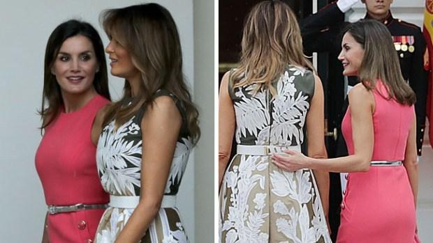 Melania Trump y la reina Letizia de España pasean como viejas amigas