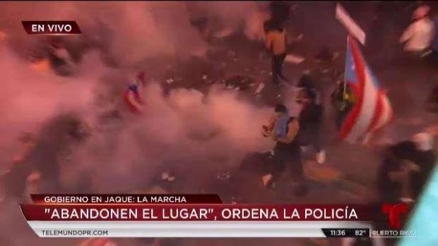[TLMD - PR] Protesta termina en caos tras provocación de manifestantes