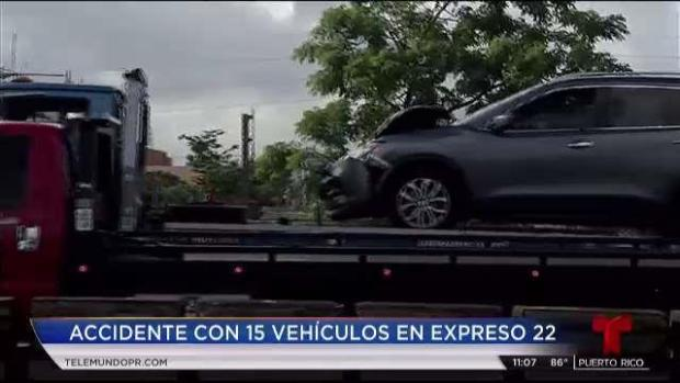 [TLMD - PR] Reportan accidente con 15 vehículos