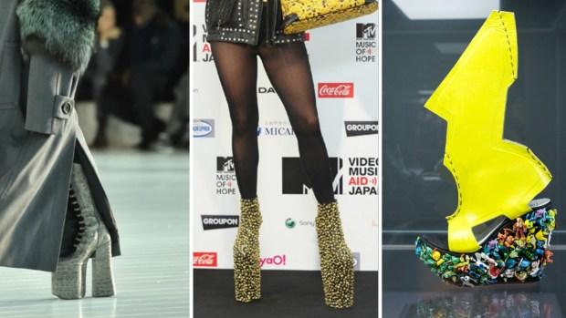 Lady Gaga y sus zapatos que dan vértigo
