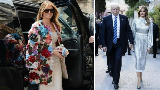 Melania Trump eclipsa las miradas con abrigo floral de $51,000